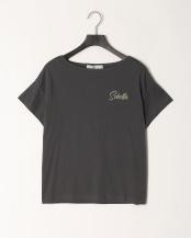 グレー●ロゴ刺繍Tシャツ○S190306