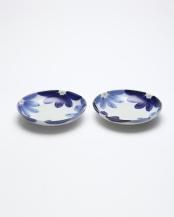 藍花 5寸取皿2枚入○4965089872060