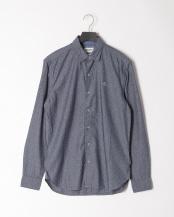 Dark Sapphire YD●LS texture pattern shirt○TB0A1NMJB681