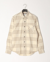 White Smoke YD●AF LS Back River Heavy Flannel Check Shirt Regular○TB0A1ZZSV091