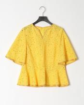 yellow●リーフ刺繍ブラウス○MA201FB003