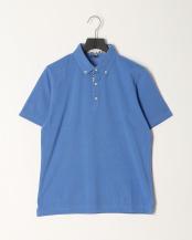 ブルー●SUVIN GOLD COTTONカノコボタンダウンカラーポロシャツ○92070030