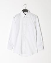 グレー●シャイニーシャドーストライプボタンダウンシャツ○51L01201