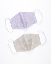 蚊帳 綿マスク 立体型 小さめ藤・銀2枚セット○WDH-1007/WDH-1009