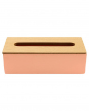PINK●COLOR&WOOD TISSUE CASE○002769