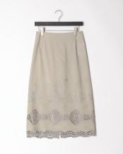 55/緑系H(グリーン)●刺繍レース ロングスカート○80190635
