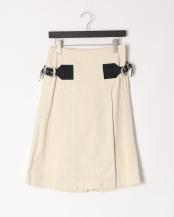 02/off white●Canvas cotton culottes○TP01-FF262