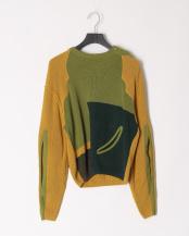 09/khaki●Fringe knit pullover○TP01-XN207