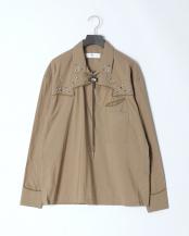 09/khaki●Typewriter western shirt○TV01-FJ302
