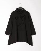 98/無彩色I(ブラック)●イレギュラーヘムのメッセージプリントチュニック○12199323