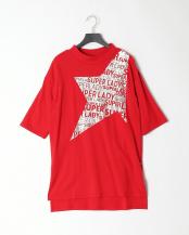 16/赤系G(レッド)●SUPERLADY  スタープリントビッグTシャツ○39199114