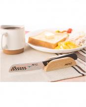 柄:ブラック●チーズバターナイフ&置き台○MK-41