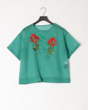 green×poppy●花刺繍ブラウス○MA201FB011
