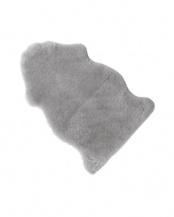 グレー●ニュージーランド原皮使用 洗えるムートンラグ1匹 55×90cm Mサイズ○631055BO