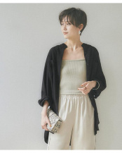 ブラック●バンドカラーシャツ○AWXN0623