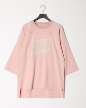 PINK●FOOTBALL MIDDLE SLEEVE INFINITY PRINTED TEE○EZT0190010