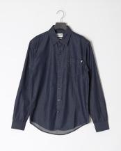 Dark Mid●AF TFO LS Merrimack River Denim Shirt (Slim)○TB0A1NJZL671
