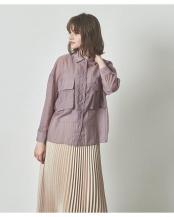 グレイッシュパープル●ビッグポケットシアーワークシャツ○AWXN0633