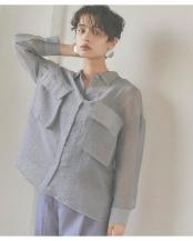 グレー●ビッグポケットシアーワークシャツ○AWXN0633