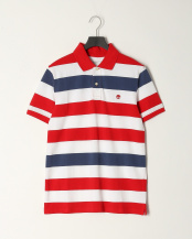 Barbados Cherry YD●AF TFO SS Millers River Rugby Stripe Pique Polo (Regular)○TB0A288KP951