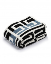Aegean Blue/Black/Crème●Throw Grecian○T-42-929-52