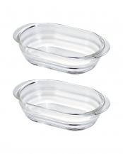 耐熱ガラス製グラタン皿 4個セット○HGZO-1812/HGZO-1812