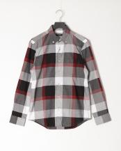 ブラック●ロイヤルオックスクレストブリッジチェックボタンダウンシャツ○51M01301