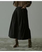 ブラック●タックポケットロングスカート○RWXX0143