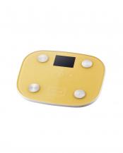 イエロー●「体組成計」 目標体重設定機能/顔文字表示機能○HCS-FS03YL