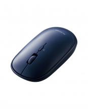 ブルー●「BlueLEDマウス」 薄型/Bluetooth/4ボタン/ポーチ付/持ち運びに○M-TM10BB