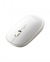 ホワイト●「BlueLEDマウス」 薄型/Bluetooth/4ボタン/ポーチ付/持ち運びに○M-TM10BB