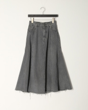 GRY●Black Flare Skirt○41193234