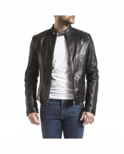 BLACK●LEATHER JACKET○EBRO