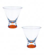 オレンジ●DANSKスペクトラ カクテルグラス 2個セット○49056895070/49056895070