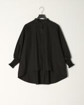 BLACK●バンドカラーバックテールシャツ○5596