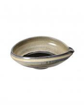 黒釉流し 手造り片口鉢○4965089318117