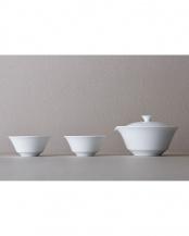 白●宝瓶、湯呑み2個セット○WDH-0067