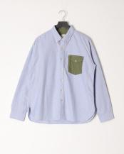 ブルー●ボタンダウンシャツ/オックスフォード○M0483FBC03