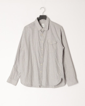 ライトグレー●ギンガムチェックシャツ○M0483FBC05