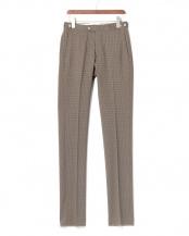 ブラウンオリーブ/ブラック●GBS trousers チェック センタープレス パンツ○123201662368