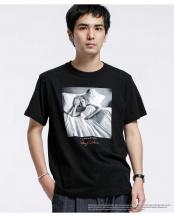 ブラック●マリリンモンロー メッセージ Tシャツ1 ナノ・ユニバースメンズ(オリジナル)○6680124071