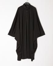 ブラック●オーバーサイズシャツワンピース○16845