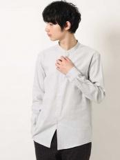 グレー●ビエラバンドシャツ a.v.v HOMME○KHBJJ12039