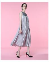 グレー1●《M Maglie le cassetto》ドッキングプリーツドレス ef-de○5102121211
