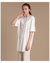 オフホワイト1 ビッグシルエットTシャツ《接触冷感》 INED○7102190043