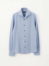 ブルー●シャツ(ローランド) MICHEL KLEIN HOMME○MNBJJ12180