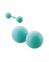 ライトブルー●「伸びるストレッチボール」 ビックサイズ/ハード/全身のコリに届く○HCK-PBLSBUL