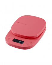 ピンク●「キッチンスケール」 タイマー付/最大2kg/最小0.1g表示○HCS-KS03