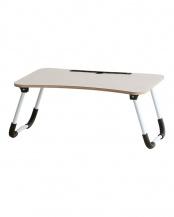 ホワイト●スマホ・タブレット用折りたたみテーブル○T-3229