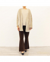 GRAY●PIPING DETAIL PILE CARDIGAN○405317